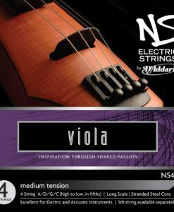D'Addario NS Electric Viola String Set, Long Scale, Medium Tension